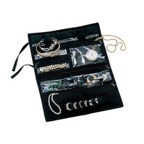 Household Essentials Jewelry Roll, Black