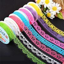 Domire 7pcs Roll Decorative Sticky Adhesive Lace Cotton