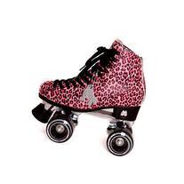 Moxi Roller Skates Ivy Roller Skates,Pink Cheetah,8