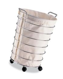 Organize It All ROLLING CHROME LAUNDRY HAMPER