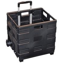 Easy Crate Rolling Foldable Plastic Crate with Telescopic