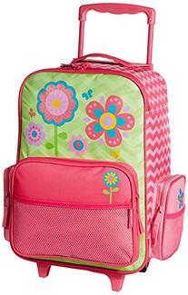 Stephen Joseph Girls' Little Classic Rolling Luggage, Flower-Chevron