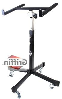 Rolling Mixer Studio Portable Table Stand DJ Cart on Wheels