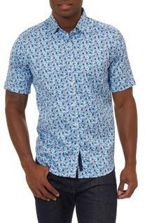 Men's Robert Graham Roman Sport Shirt, Size Medium - Blue