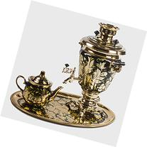 Rooster Electric Samovar Set with Tray & Teapot Russian