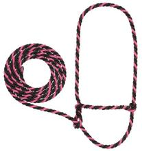 Weaver Leather Rope Cow Halter, Pink Fusion/Black
