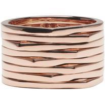 Repossi Rose Gold 8 Rows Antifer Ring