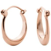 Shinola 14K Rose Gold Small Crescent Dome Hoop Earrings
