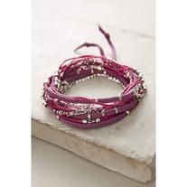 Anthropologie Rose Twisted Wrap Bracelet