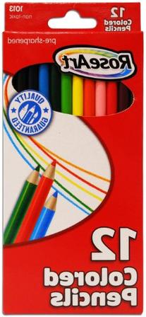 Roseart Colored Pencils Sharpened, 12 ct