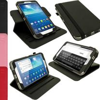 iGadgitz Premium Rotating Black PU Leather Case Cover for
