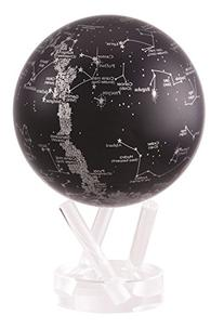 "4.5"" Silver and Black Constellations MOVA Globe"