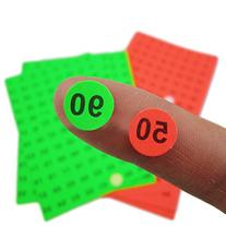 """Officeship 2/5"""" Round Number 1 to 95 Stickers, 95 Labels/"""