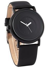 AMPM24 New Fashion Round Men's Women Unisex Black Leather