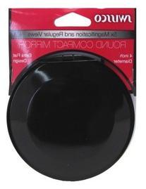 Swissco Mirror Round Compact 4 Inch-5X Mag & Reg View