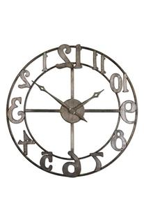 Uttermost 'Delevan' Round Metal Wall Clock - Black