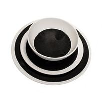 ROUND PLATE STACKER VALUE PACK - BLACK, 30 PIECES