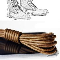 Helen Zora Round Thin Shoe Laces Durable Waxed Bootlaces For