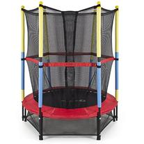 "Best Choice Products 55"" Round Kids Mini Trampoline w/"