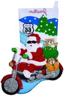 Route 66 Stocking Felt Applique Kit-16 Long