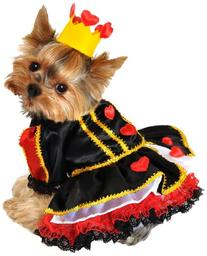 Anit Accessories 20-Inch Royal Queen of Hearts Dog Costume,