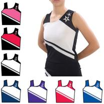 Pizzazz Royal White Cheer Star Uniform Top Girls 2-4