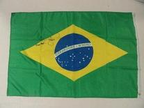 Royce Gracie Autographed Brazil Flag Ufc Mma Signed Proof