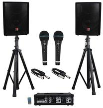 "Rockville RPG2X10 Package PA System Mixer/Amp+10"" Speakers+"