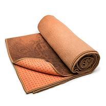 Yogitoes rSkidless Vintage Peacock Yoga Mat Towel Ember
