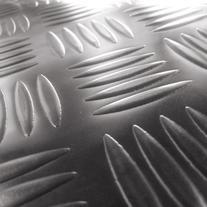 Rubber Cal Diamond-Grip Floor Mat, Black, 2mm x 4 x 4-Feet