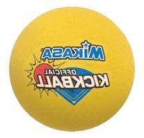 """Mikasa 8.5"""" Rubber Covered Official Kickball, Yellow"""