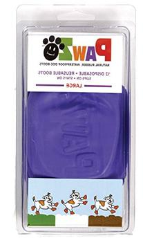"Pawz Purple Water-Proof Dog Boots, Large, Paws 3"" to 4"