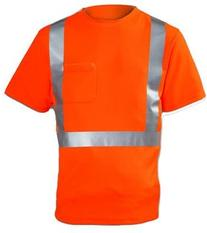 Tingley Rubber S75029 Class 2 T-Shirt with Pocket, Large,