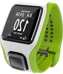 TomTom Runner Cardio GPS HR Watch - green/white, one size