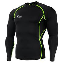 Baleaf Men's Long Sleeve Running Fitness Workout Compression