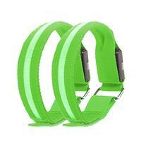 X-Bright 2 Pcs Running Light Reflective LED Armband Bracelet