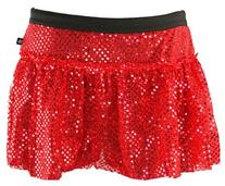 Red Sparkle Running Skirt XS