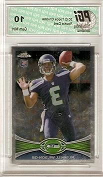 Russell Wilson 2012 Topps Chrome #40 Rookie Card PGI 10