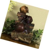 Sunnydaze Rustic Brick Wall and Jugs Tabletop Fountain with