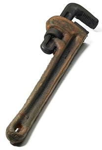Forum Novelties Rusty Monkey Wrench Novelty Property, Brown
