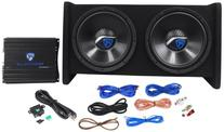"Rockville RV12.2A 1200w Dual 12"" Car Subwoofer Enclosure+"