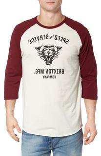 Men's Brixton Rydell Baseball T-Shirt, Size Medium - Ivory