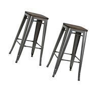 "DHP S003105 Fusion Metal Backless Bar Stool, 30"", Gray"
