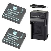 DSTE 2x CGA-S008 CGA-S008E Battery + DC68 Travel and Car