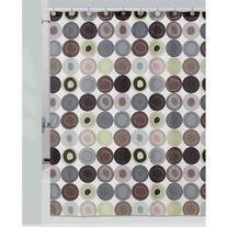 Creative Bath S0854CIT Dot Swirl Citron Color Shower Curtain