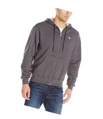 Hanes S2468 Eco Fleece Full-Zip Mens Hoodie, Granite Heather