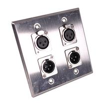 Seismic Audio SA-PLATE39 Stainless Steel Wall Plate 2 Gang
