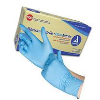 Safe-Touch Non Sterile Blue Nitrile Exam Gloves, Non-Latex,