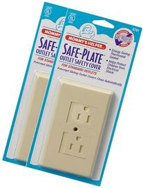 Mommy's Helper - Safe-Plate Outlet Cover - 25pk - Almond