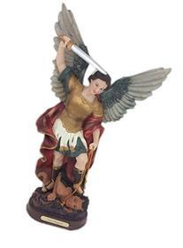 """17"""" Statue of Saint Michael the Archangel San Miguel"""